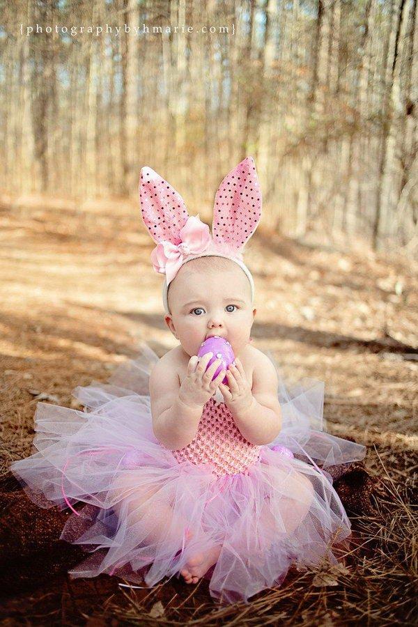 Dziecko królik wielkanocny