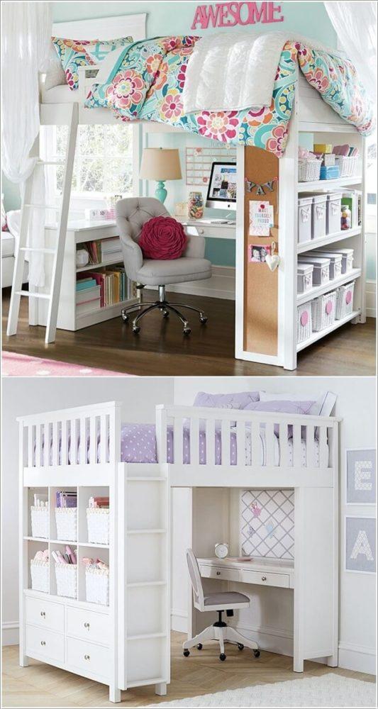 łóżko w małym pokoju dziecka