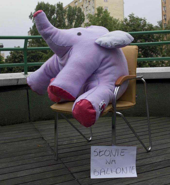Super Prezenty szyją słonia dla Małych Pacjentów