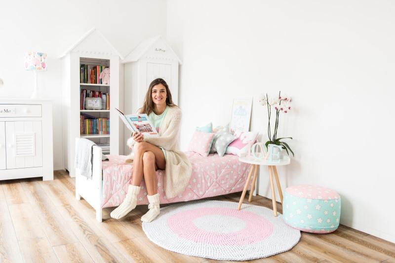 Pokój córki Kamili Szczawińskiej - urządzony został w bardzo dziewczęcym stylu