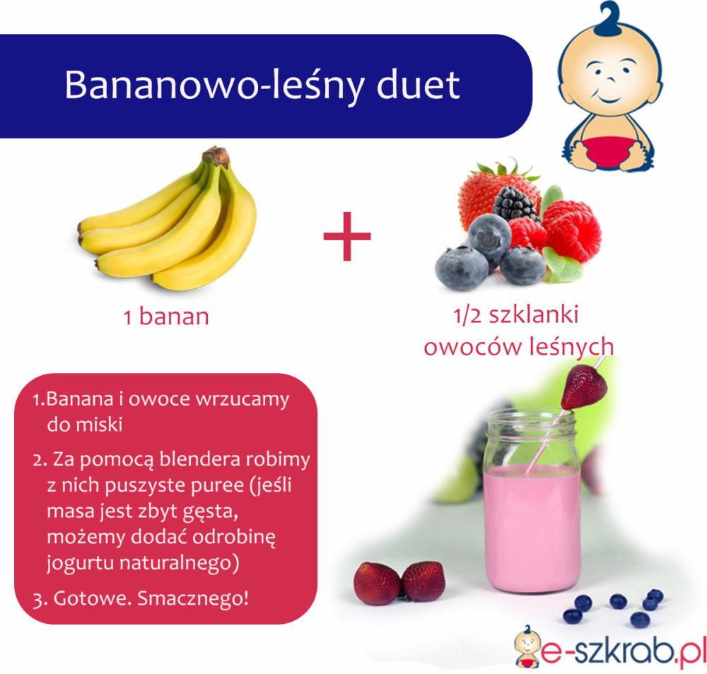 Banany i owoce leśne