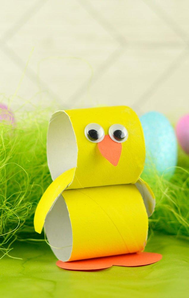 Kurczak wielkanocny pomysł na dekorację dla dziecka