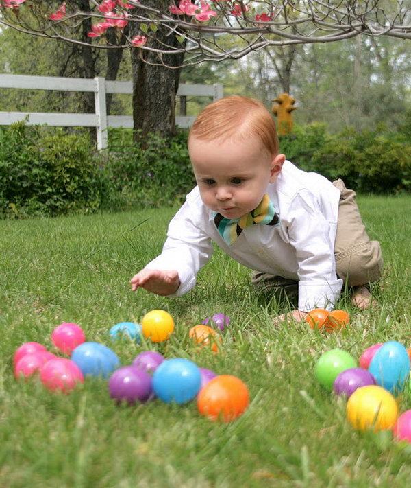 Wielkanocne zdjęcia dzieci