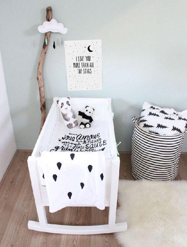 Pokój małego dziecka w stylu skandynawskim