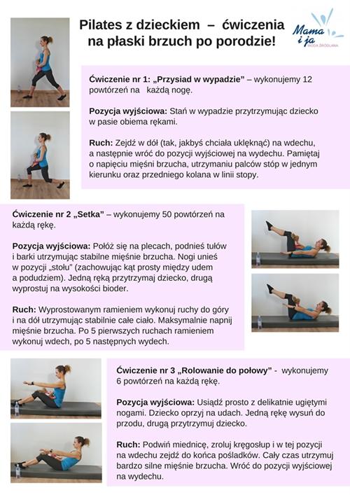 Zestaw ćwiczeń pilates z dzieckiem