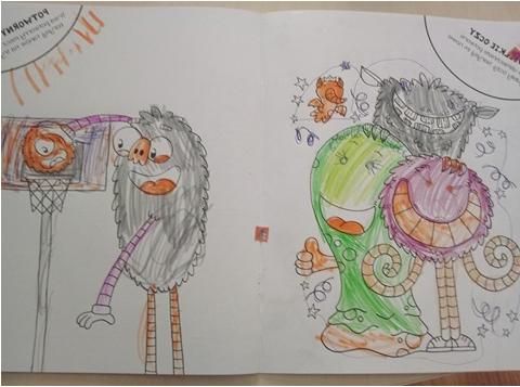 Julka rysunek potworny plecak