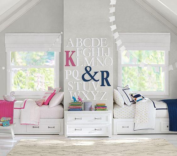 Wspólny pokój dla dziewczynki i chłopca