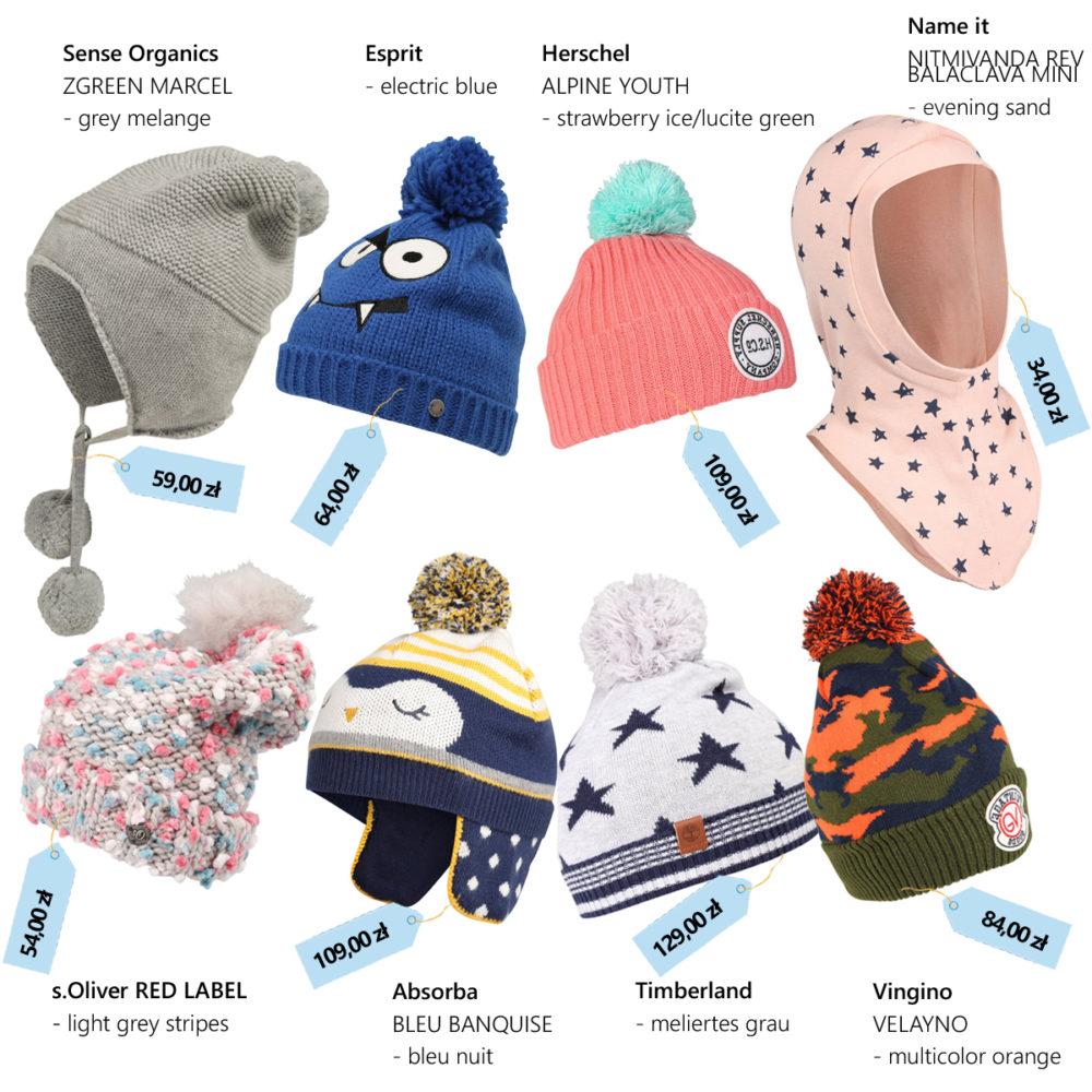 czapki dla dziecka na jesień i zimę