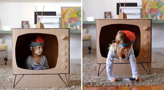zabawka z kartonu telewizor
