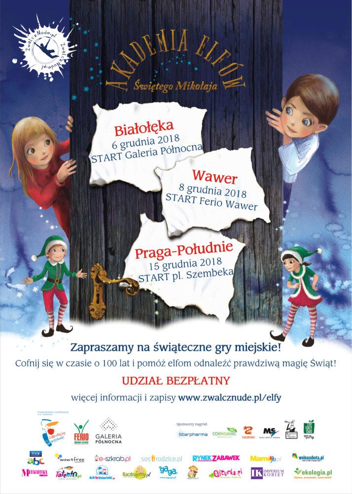 Akademia Elfów Świętego Mikołaja gra miejska